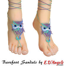 barefoot sandals ravelry barefoot sandals owl pattern by elaine d