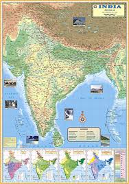 India Maps by Buy India Physical Map 70x100cm Book Online At Low Prices In