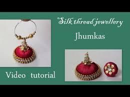 quilling earrings tutorial pdf free download silk thread jewelllery jhumkas making video youtube