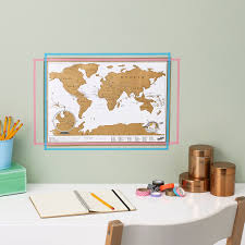 World Map Desk by Scratch Map Travel A Mini Scratch Map Poster