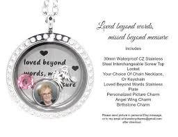in loving memory lockets in loving memory locket stainless steel floating charms locket w