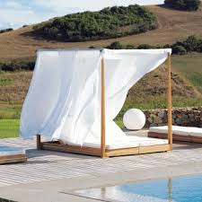 design3000 essenza double lounger u2013 garten himmelbett aus teakholz