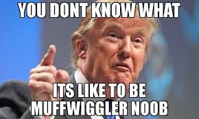 Noob Meme - you dont know what its like to be muffwiggler noob meme donald