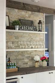 Rock Backsplash Kitchen by Best 25 Stacked Stone Backsplash Ideas On Pinterest Stone