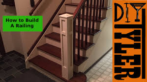 how to make a banister for stairs how to build a railing for a staircase 018 youtube