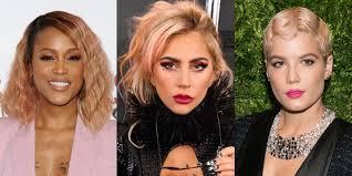 rose gold hair color best rose gold hair colors best celebrity rose gold hair colors
