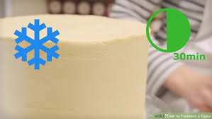 the 2 the simplest way to fondant a cake wikihow