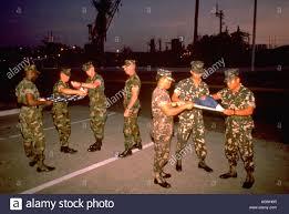 Flag Folding Painet Hl0108 Philippines Subic Bay Olongapo Military Philippine