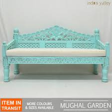 french indian carved daybed mattress balinese day bed rustic