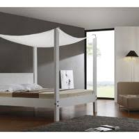 Wood Canopy Bed Frame Queen by Bedroom White Lacquer Oak Wood Queen Size Canopy Bed With Crossed
