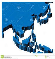 Map Of South East Asia 3d Map Of South East Asia Stock Image Image 13462511