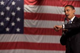 The America Flag Free Public Domain Image President Barack Obama In Front Of The