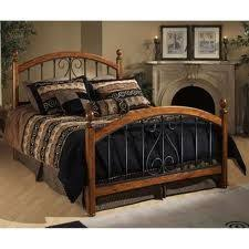 Wood And Iron Bed Frames Hillsdale Beds 1258hfqr The Burton Way Bed Elevates The
