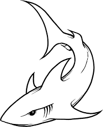 hammerhead shark clipart simple pencil and in color hammerhead