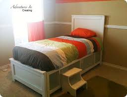 Woodworking Plans For Storage Beds by Enchanting Twin Bed Plans With Storage And Ana White Farmhouse
