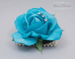 turquoise corsage succulent wrist corsage boutonniere set wedding flower