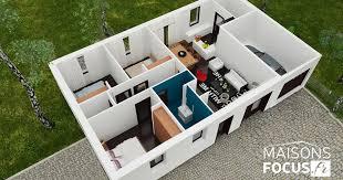 plan maison 80m2 3 chambres plan maison focus 80m2