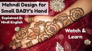 mehndi designs for small baby u0027s hand rose flower leaf henna