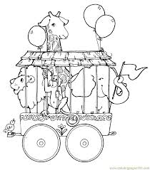 circus train animals coloring free circus animals coloring