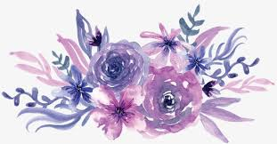 purple flowers watercolor purple flowers watercolor flowers purple png image