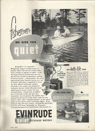 1953 evinrude motors ad the super fastwin 15 hp vintage
