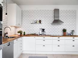 excellent simple white tile backsplash with grey grout white