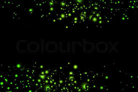 abstract background with bright green magic lights stock vector