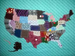 Map Fabric The Random Writings Of Rachel Fabric Map Of The Usa