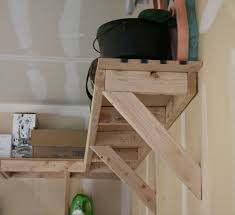 Wooden Storage Shelves Diy by Best 25 Overhead Garage Storage Ideas On Pinterest Diy Garage