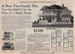 gordon van tine 198 a new two family plan oklahoma houses by mail