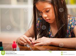 painting her nails home stock photos images u0026 pictures 63