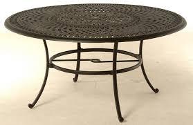 cast aluminum dining table bella by hanamint luxury cast aluminum 60 round dining table w