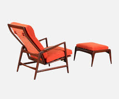 Reclining Lounge Chair Ib Kofod Larsen Reclining Lounge Chair With Ottoman For Selig