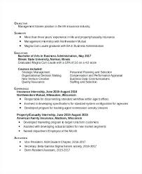 free business administration resume templates samples word