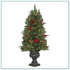 small decorative trees for mantle