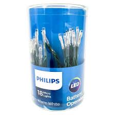 philips battery operated 18ct warm white micro mini string led