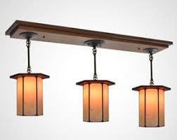 Three Pendant Light Fixture Mission Style Kitchen Lighting Fixtures Mission Studio