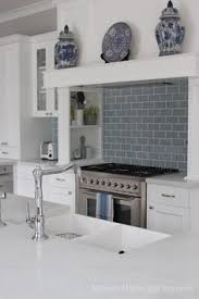 Light Blue Kitchen Tiles by Marble And White Kitchen Nickel Pendant Light Blue Subway Tiles