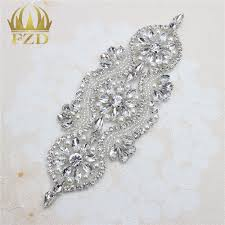 compare prices on applique beaded bridal trim online shopping buy 30pieces iron on crystal beaded sewing wholesale bridal sash garters decorative trim rhinestone appliques