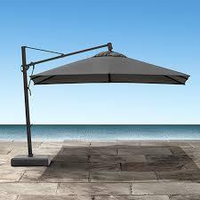 13 Patio Umbrella Cantilever 13 Outdoor Umbrella In Canvas Coal Patio Outdoor