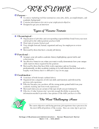 formats of a resume format of a resume for a tomyumtumweb