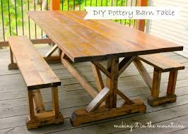 pottery barn farmhouse table pottery barn inspired table