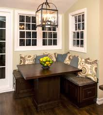 kitchen counter height kitchen table with corner bench seating