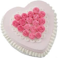 How To Decorate Heart Shaped Cake Ribbon Rose Heart Cake Wilton