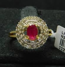 diamond studded hallmark certified 0 78 ct diamond studded genuine real 14k gold