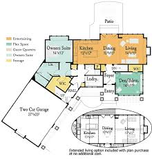 open concept house plans plan 18221be open concept living with options craftsman cottage