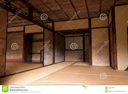 japanese interior house walls decorated by tanyu kano royalty free
