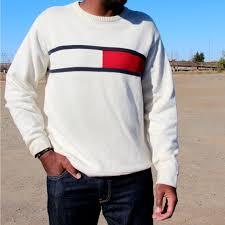 vintage hilfiger sweaters s vintage hilfiger crew neck sweater