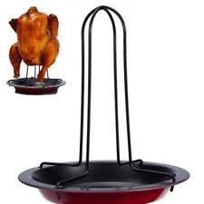 can turkey stand chicken roaster drip pan bbq turkey bird grill oven rack