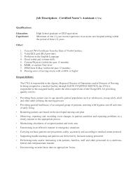 Sample Nursing Assistant Resume Cna Responsibilities Resume